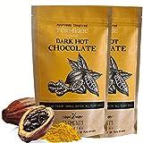 Elements Truffles Turmeric Infused Dark Hot Chocolate - All-Natural, Handmade, Small-Batch Dark Hot Chocolate Mix - Uses Ecuadorian, Fair Trade, Organic Cacao Powder - Vegan Hot Cocoa Mix - 16 Ounces