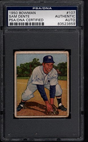 1950 Bowman #107 Sam Dente Autograph PSA/DNA Certified Auto 26533