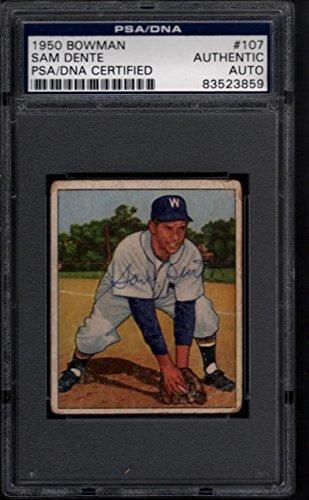 1950 Bowman #107 Sam Dente Autograph PSA/DNA Certified Auto 26533