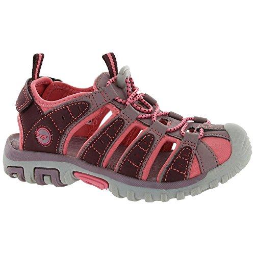 (Hi-Tec Shore JR Water Shoe (Little Kid/Big Kid), Plum/Elderberry/Blossom, 12 M US Little Kid)