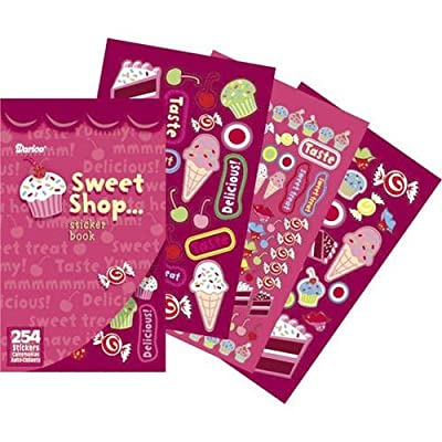 """Sticker Book 9-1/2""""X6""""-Sweet Shop - 254 Stickers: Arts, Crafts & Sewing"""