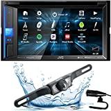JVC KW-V25BT Double DIN in-Dash Bluetooth CD/DVD/AM/FM/Digital Media Car Stereo Receiver w/ 6.2' Touchscreen, Pandora, Spotify and iHeartRadio Control + HD Backup Camera