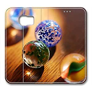 Samsung S6 leather Case,Samsung S6 Cases ,Colored marbles Custom Samsung S6 High-grade leather Cases