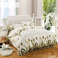 Print Bedding Set Single Double King Duvet Cover Quilt Cover Pillow Case Duvet Cover Set with Pillowcases 4pcs Bed Set,7,Twin