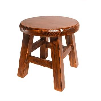 Phenomenal Amazon Com Yfl Small Stools Solid Wood Small Round Stool Machost Co Dining Chair Design Ideas Machostcouk