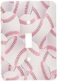 3dRose lsp_161323_1 patrón de béisbol blanco y rojo bolas bola de Base deporte deportivo del equipo deportivo juego niños atleta tapa del interruptor luz