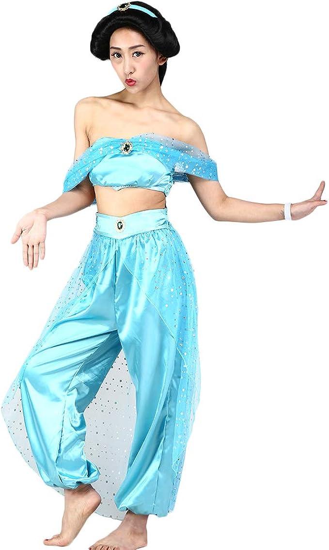 Hotcostyle Princesa Jasmine Vestido Aladdin lámpara Organza ...
