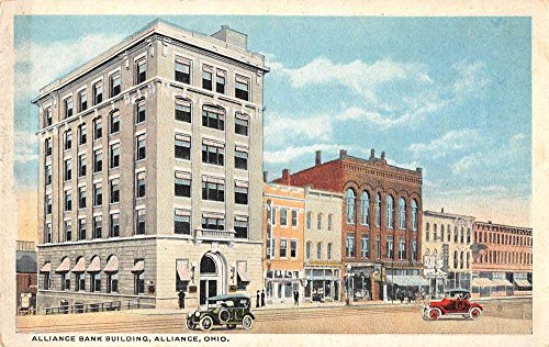 alliance-ohio-birds-eye-view-alliance-bank-bldg-antique-pc-z12779