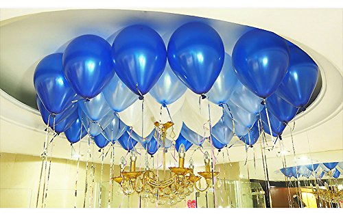 white and light blue balloons - 2