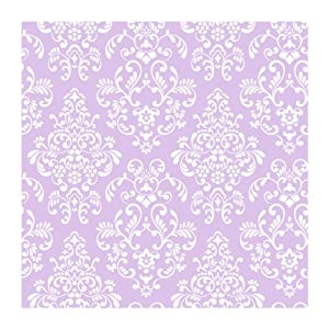 York Wallcoverings Just Kids KD1756 Delicate Document Damask Wallpaper Purple