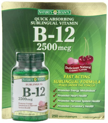 Nature's Bounty B-12 2500 mcg, 250 Microlozenges (Pack of 3) by Nature's Bounty