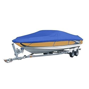 Waterproof 240D Heavy Duty Boat Cover 20-22 ft Fishing Ski Speedboat Blue