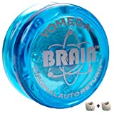 Yomega The Original Brain – Professional Yoyo for Kids and Beginners, Responsive Auto Return Yo Yo Best for String Tricks + Extra 2 Strings & 3 Month Warranty (Blue)