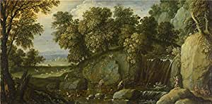 Perfect effect canvas ,the Best Price Art Decorative Prints on Canvas of oil painting 'Marten Rijckaert Landscape with Satyrs ', 20 x 41 inch / 51 x 103 cm is best for Bar decor and Home gallery art and Gifts