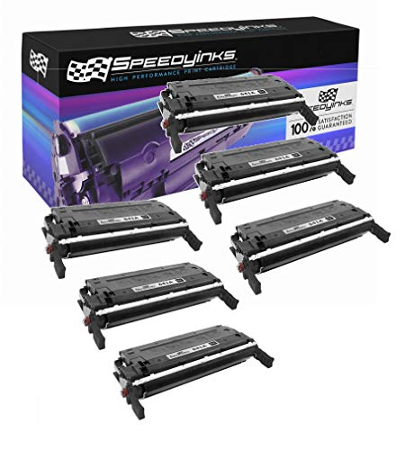 Speedy Inks Remanufactured Toner Cartridge Replacement for HP 641A / C9720A (Black, 6-Pack)