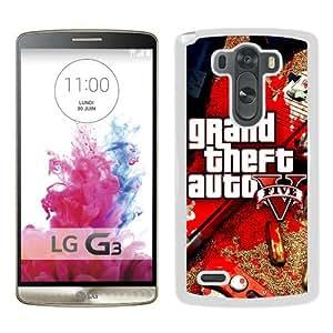 Popular Sale LG G3,Grand Theft Auto V 2 White Unique Custom LG G3 Phone Case