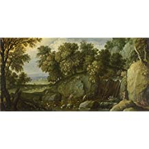 'Marten Rijckaert Landscape with Satyrs ' oil painting, 18 x 37 inch / 46 x 93 cm ,printed on Perfect effect canvas ,this Replica Art DecorativeCanvas Prints is perfectly suitalbe for Kids Room artwork and Home gallery art and Gifts