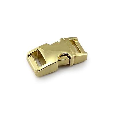 """Fermoir à clip en métal, idéal pour les paracordes (bracelet, collier pour chien, etc), boucle, attache à clipser, grandeur: S, 3/8"""", 33mm x 15mm, couleur: or, de la marque Ganzoo - lot de 3"""