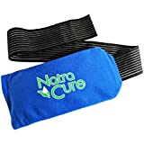 """NatraCure Universal Cold Pack Ice Wrap – 1 Gel Pack w/ 1 Sleeve - (5"""" x 10"""" Ice Pack Sleeve with 24"""" nylon belt strap & 1 Gel Pack)"""