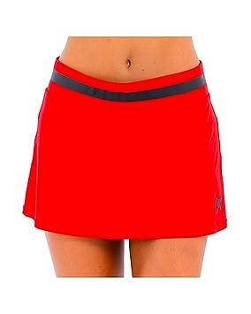 DROP SHOT Falda Mujer Línea Nassau Rojo con Detalles en ...