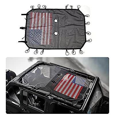 JeCar 4 Door Durable Polyester Mesh Shade Top Cover Provides UV Sun Protection for Jeep Wrangler JK & Unlimited 2007-2020: Automotive