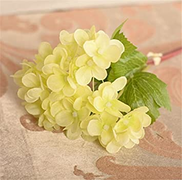 Amazon olive us artificial hydrangea bouquet silk flowers leaf olive us artificial hydrangea bouquet silk flowers leaf wedding bridal party home decorgreen mightylinksfo