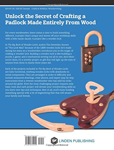 The Big Book of Wooden Locks: Complete Plans for Nine Working Wooden Locks
