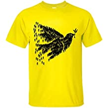 GEKK Men's Dove People Graphic T Shirt yellow L
