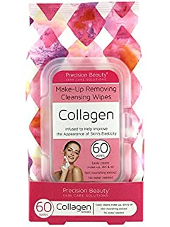 Precision Beauty Make-Up Remover Collagen Wipes 60Count