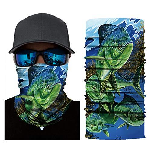 ZLOLIA Unisex Print Seamless Bandana Neck Gaiter Tube Mask Headwear, Face Mask for Women Men Face Scarf Fishing Mask