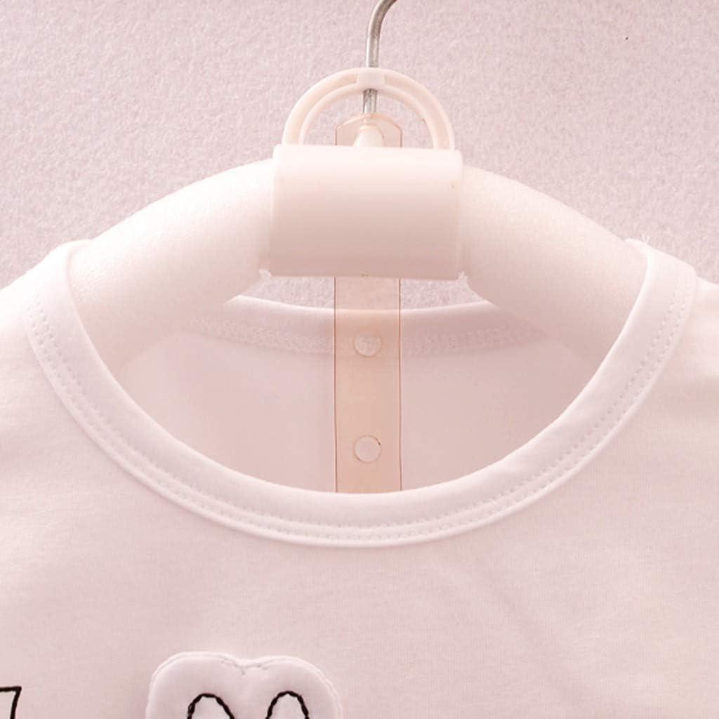 JURTEE Ensembles Vetement B/éb/é Fille Ete Enfant B/éB/é Filles Tenues De Bande Dessin/éE Imprimer T-Shirt Hauts 4 Ans Shorts V/êTements Ensemble 6 Mois