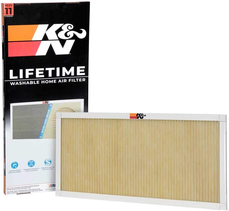 K&N Home Reusable Air AC Furnace Filter, 14x30x1