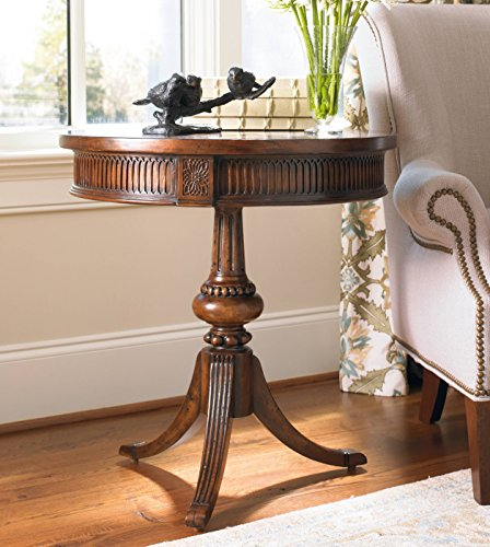Hooker Furniture 500-50-828 Round Pedestal Accent Table, Medium Wood