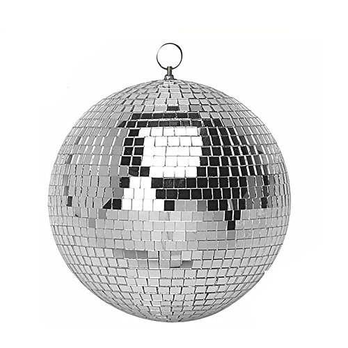 "FidgetGear 4/6""Glitter Lightweight Sliver Mirror Disco Dance Party DJ Ball Mirrored Glass 10cm(4"") from FidgetGear"