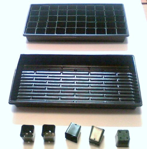 500 2'' Square Pots + 10 solid bottom 1020 Trays by Gardenstuff