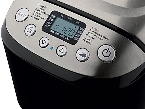 PANIFICADORA SILVERCREST NEGRA LCD MAQUINA PAN 12 FUNCIONES 750 ...