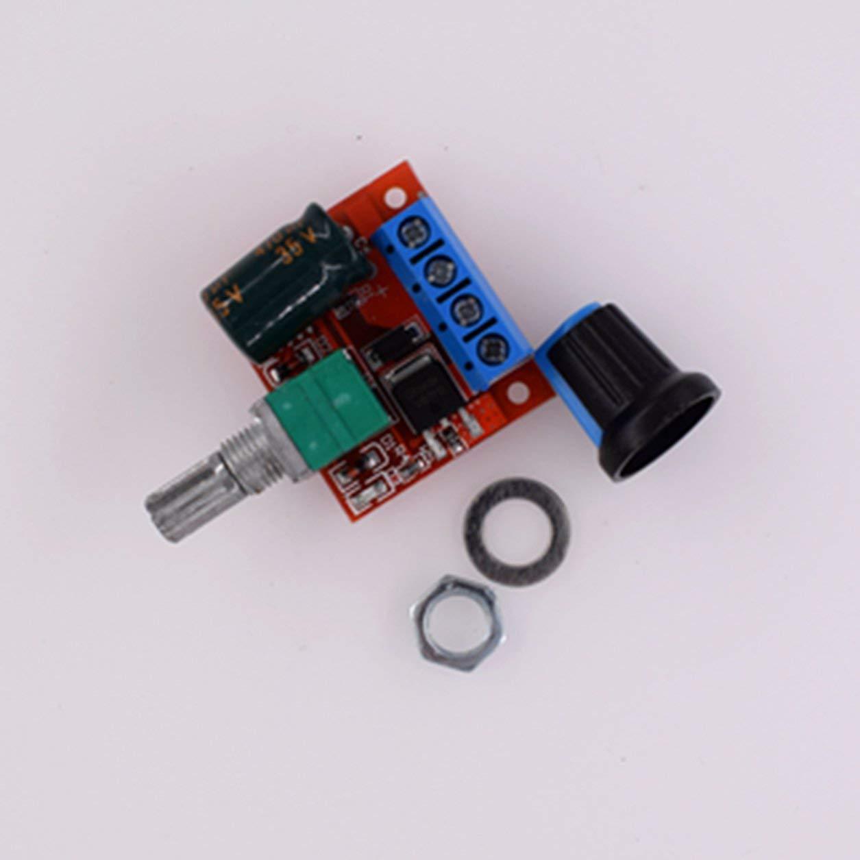Color Dailyinshop PWM DC Motor Gobernador Regulador de Velocidad Funci/ón de Interruptor LED M/ódulo de atenuaci/ón