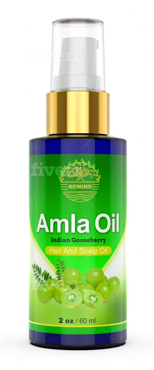 AMLA Oil for Hair - Pure 100% Natural Amla Fruit oil For Premature Greying - Stops Alopecia - Darkens Hair Naturally - Promotes Hair Growth - No Chemicals, High Concentrate Extract Pump Spray