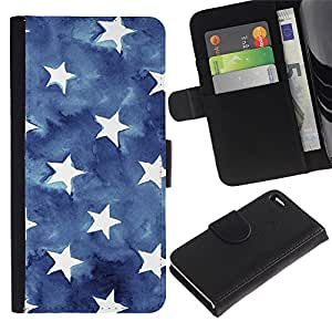 APlus Cases // Apple Iphone 4 / 4S // Estrellas rayas los eeuu azul americano bandera // Cuero PU Delgado caso Billetera cubierta Shell Armor Funda Case Cover Wallet Credit Card