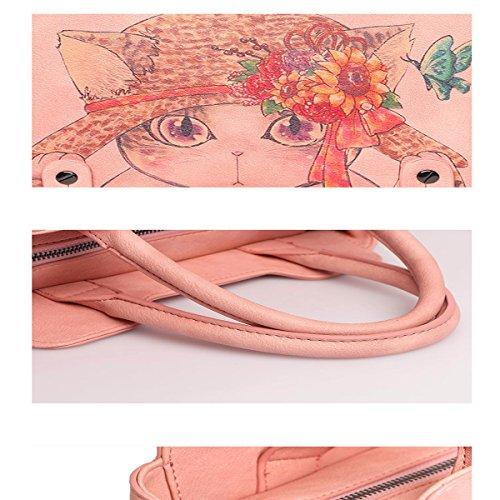Wild Bolso Messenger bolsos bolso de moda, rosa (niña) Blanco (niña)