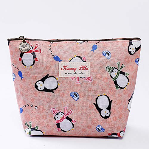 donna Nqceksrdfzn per Storage cosmetico trucco Fashion rosa Pinguino Bag Multipurpose BB8v0qO