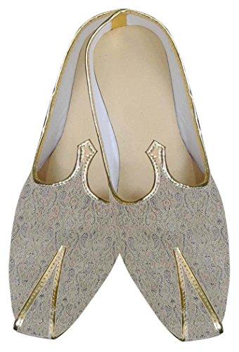 INMONARCH Herren Beige Schuhe Designer Hochzeit MJ0108