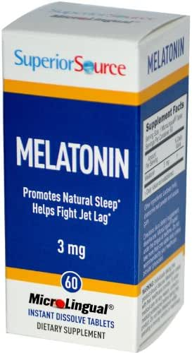 [launch] Superior Source Melatonin 3mg With Chamomile Instant Dissolve Tablets - Non Addictive Sleep Aid - Sublingual Melatonin - Natural Sleeping Pills For Adults 60 Count