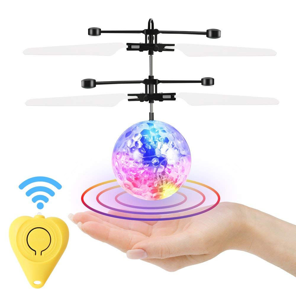 RCDNE Flying Ball, Helicóptero de Control Remoto Mini Drone Magic ...