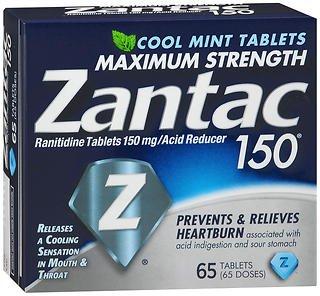 Zantac 150 Tablets Cool Mint - 65 ct, Pack of 6