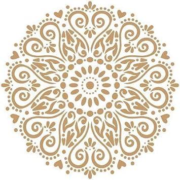 Medidas aproximadas Medida Exterior 20 x 30 cm Medida del dise/ño:18,4 x 24,3 cm TODO-STENCIL Deco Adamascado 045
