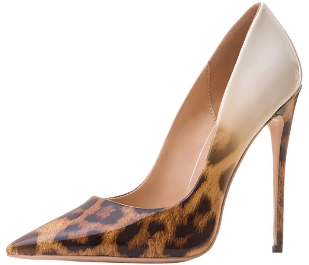 Arraysa Mujer Aaaaj Tacón De Aguja 12CM Sintético Ponerse Zapatos de tacón 42.5 EU|Hueso