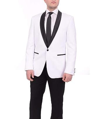ShineGown - Traje - para Hombre Blanco Blanco M: Amazon.es ...