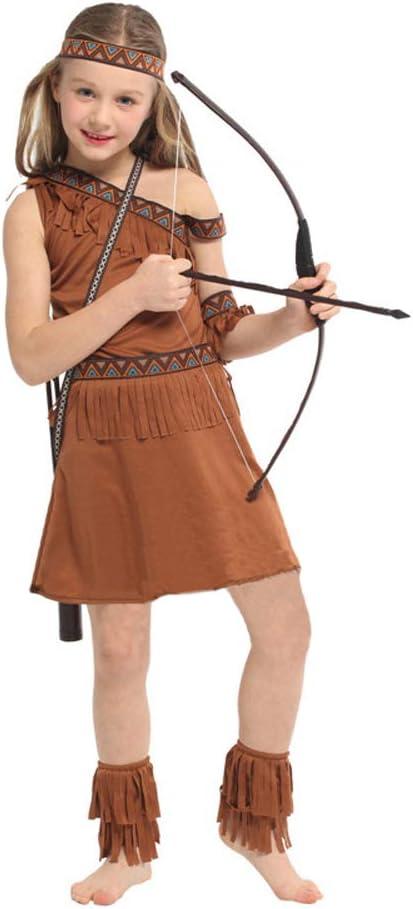 LOLANTA Disfraz de nativa Americana para niña Disfraz de Doncella ...