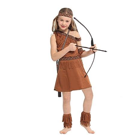 LOLANTA Disfraz de nativa Americana para niña Disfraz de ...